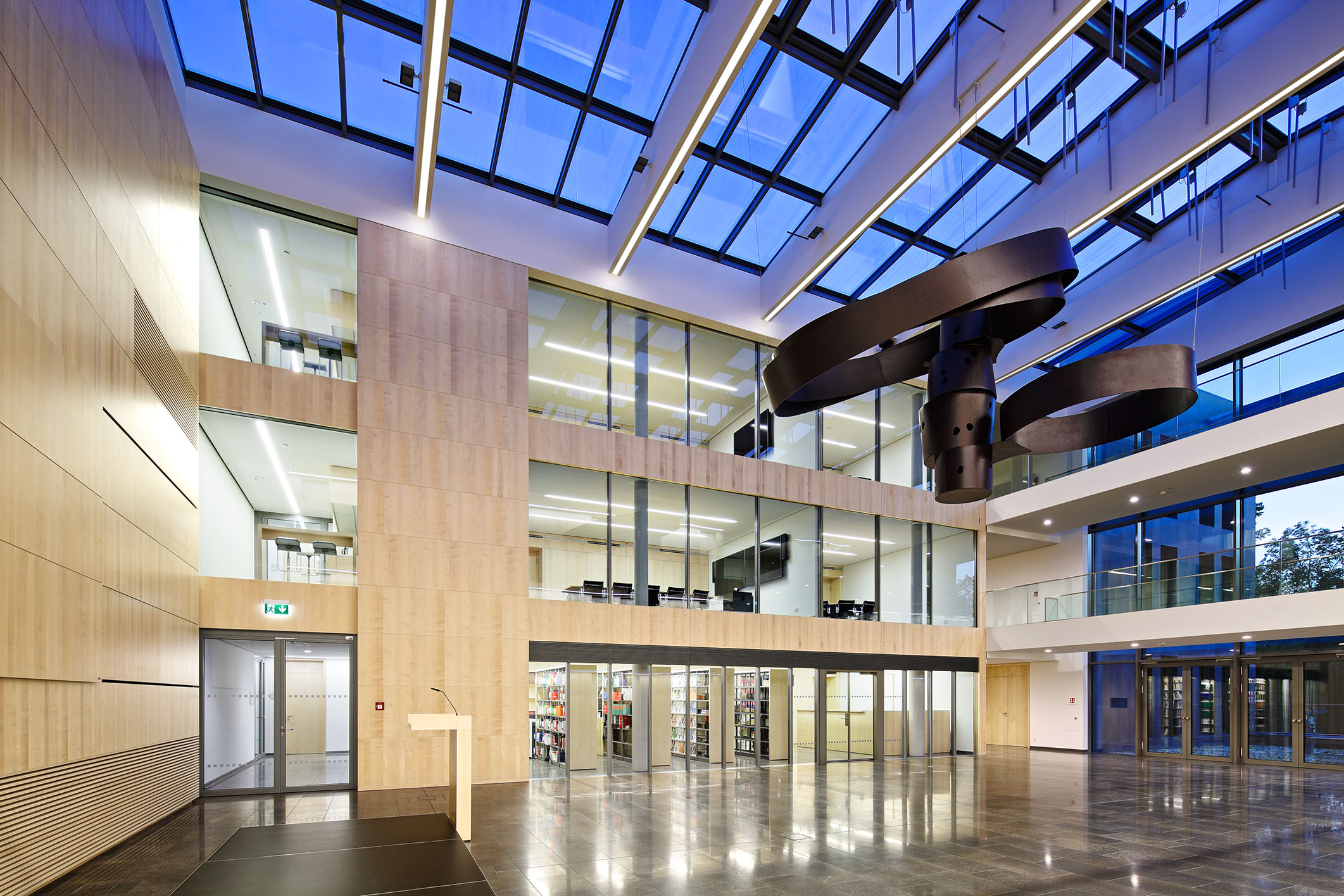 new-built extension to the Finance Ministry of Hesse in Wiesbaden
