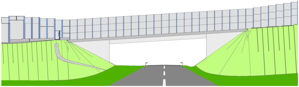 Official draft of the planned new bridge construction at the federal motorway A7